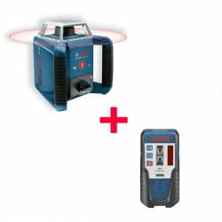 Set nivel láser giratorio Bosch GRL 400 H + Receptor LR 1 Profesional