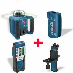 Set nivel láser giratorio Bosch profesional GRL 300 HVG + Mando RC1 + Soporte WM 4 + Receptor LR 1