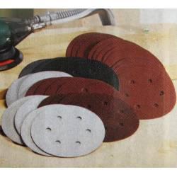 Set de 30 papeles de lija para lijadora excéntrica de 150 mm