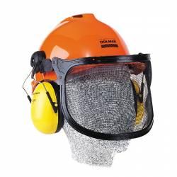 Casco de protección Makita con rejilla y auriculares