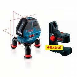 Nivel láser de líneas autonivelantes Bosch GLL 3-50 P + BM 1 Profesional