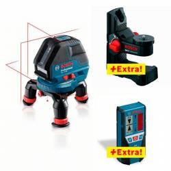 Nivel láser de líneas autonivelantes Bosch GLL 3-50 P + BM 1 + LR 2 Profesional