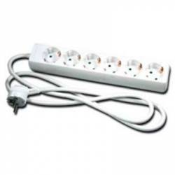Base de 6 enchufes schuko 1,4 m de cable 3500 W