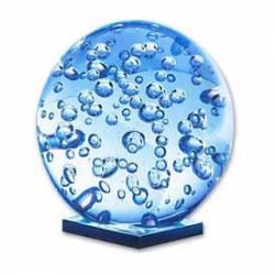 Bola de cristal con gotas