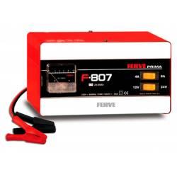 Cargador Ferve PRIMA F-807 para baterías de plomo de12-24V y 24-95 Ah