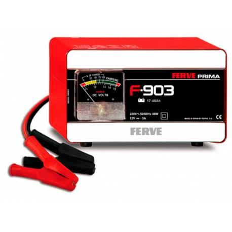Cargador Ferve PRIMA F-903 para baterías de plomo de 12V