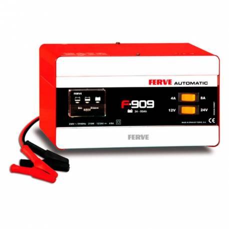 Cargador Ferve AUTOMATIC F-909 para baterías de plomo 12-24V