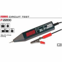 Ferve F-2200 Tester batería, alternador, dinamo y regulador de 12 y 24V