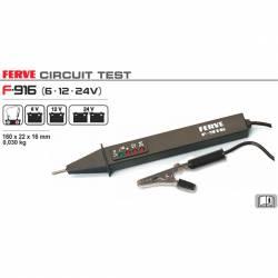 Ferve F-916 Punta de prueba electrónica para circuitos de 6,12 y 24 V