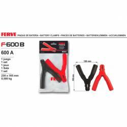 Ferve F-600 B Pinza de 600A 1 set pinza roja y negra