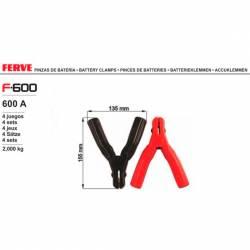 Ferve F-600 Pinza de 600A 4 sets pinza roja y negra
