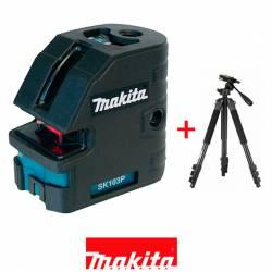 Makita SK103PZT Nivel láser de cruz con 4 puntos con trípode