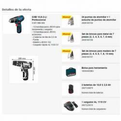 Taladro percutor Bosch GSB a batería 10