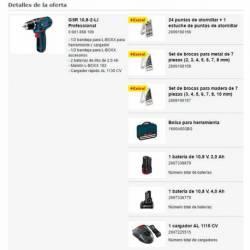 Taladro atornillador Bosch GSR a batería 10