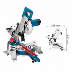 Ingletadora Telescópica Bosch GCM 800 SJ 216 mm 1400 W