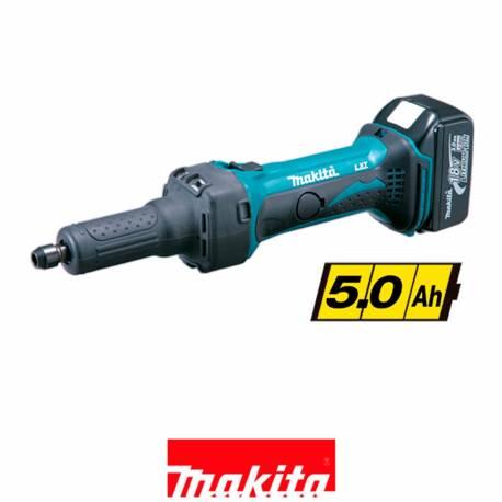 DGD800RTJ Amoladora recta Makita a batería 18V Litio 5Ah