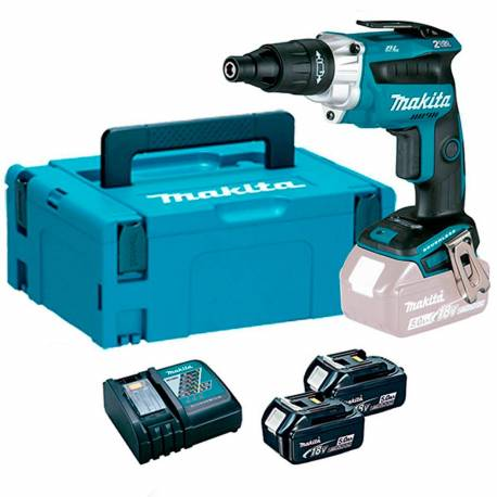 DFS251RTJ Atornillador Makita BL a batería 18V Li 5 Ah. Con Push&Drive