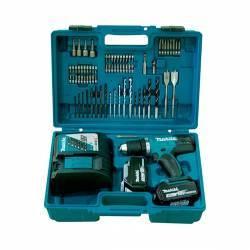 DDF482RFX1 Taladro atornillador Makita a batería 18V con set 74 piezas