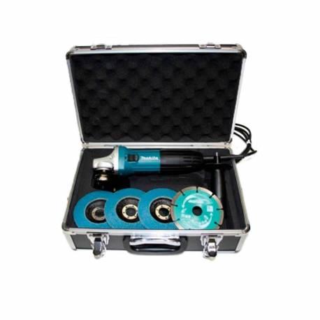 GA4530RX1 Miniamoladora Makita 720 W 115 mm con maletin y accesorios
