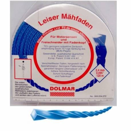 Hilo de nylon Dolmar 369224072 Silencioso 2.4 mm x 120 m
