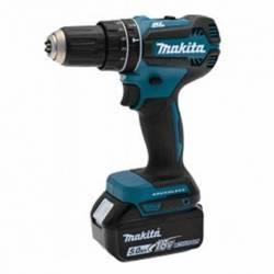 DHP485RTJ Taladro percutor Makita a batería 18V LXT 5.0Ah BL 50 Nm