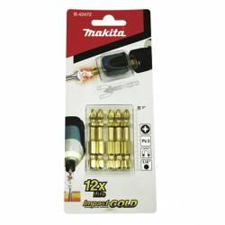 B-42472 Blíster de 5 puntas PZ2 Impact Gold + Mag Boost Makita