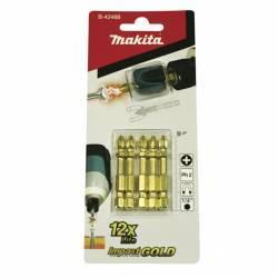 B-42488 Blíster de 5 puntas PH2 Impact Gold + Mag Boost Makita