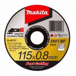 B-45727-12 Disco Makita de corte metal 115 mm x 0.8 mm x 22.23 mm
