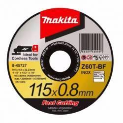 B-45727-25 Disco Makita de corte metal 125 mm x 0.8 mm x 22.23 mm