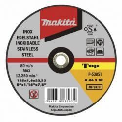 P-53045 Disco Makita de corte extrafino inoxidable 125 mm x 1.0 mm