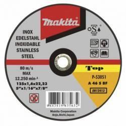 P-53051 Disco Makita de corte extrafino inoxidable 125 mm x 1.6 mm