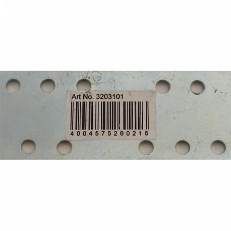 PLETINA ACERO ZINC. 2 X 40 X 100 mm CON PERF. 5 mm