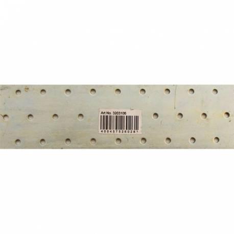 PLETINA ACERO ZINC. 2 X 60 X 200 mm CON PERF. 5 mm