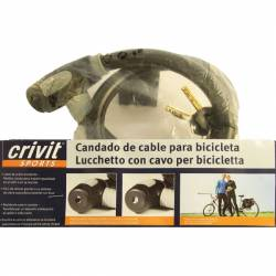 Candado de cable para bicicleta y ciclomotor